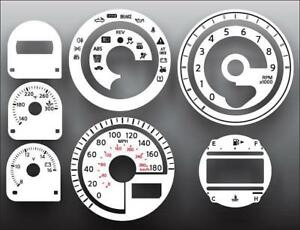 Fits-2009-2011-Nissan-370Z-Dash-Instrument-Cluster-White-Face-Gauges