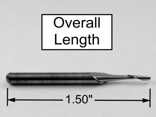 """1//16/"""" Single Flute Carbide End Mill CNC Router-aluminum plastic One Piece M196"""