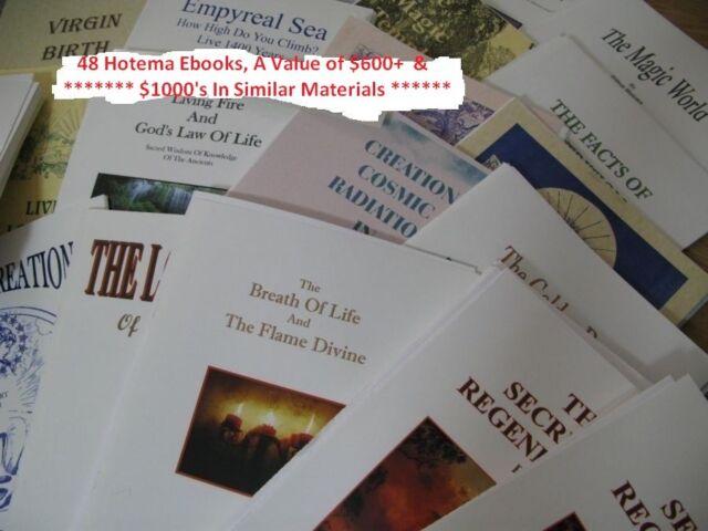 HILTON hotema Set-occultismo lotto di 48 EBOOK Alchimia spirituale della salute Collection
