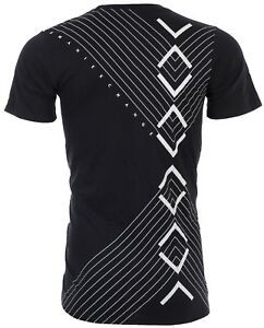Armani-Exchange-INVERTED-Mens-Designer-T-SHIRT-Premium-BLACK-Slim-Fit-45-NWT