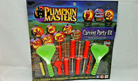 Halloween Pumpkin Masters Carving Party Kit 10 Piece Set 1 Pattern Book
