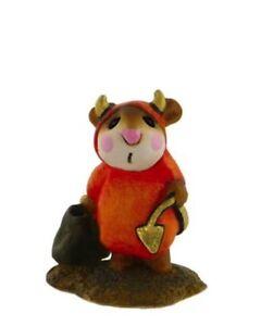 Wee-Forest-Folk-LITTLE-DEVIL-WFF-M-61-Orange-Halloween-Mouse