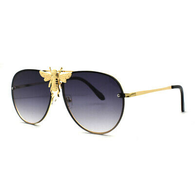 Luxury Metal Big Bee Pilot Sunglasses Gradient Lenses Retro Men Women Shades Hot | eBay