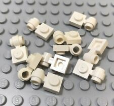 Lego Lot 10 White 1x1 Plates With Lamp Holder Clip Ring Part 4081 X