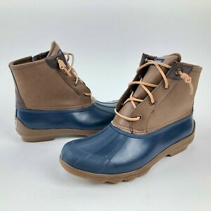 Sperry-Top-Sider-Womens-Sz-7-5-Saltwater-Insulated-Waterproof-Rubber-Duck-Boots