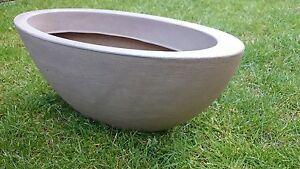 Pflanztopf-Blumentopf-Pflanzschale-Blumenschale-Grabschale-52x23-cm-Taupe-Sand