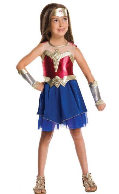 Child BATMAN V SUPERMAN Dawn of Justice Wonder Woman Kids Fancy Dress Costume