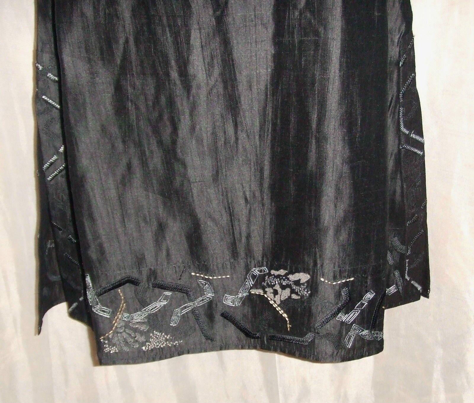 NITYA ROBE TUNIQUE blackE FLUIDE 100% SOIE MANCHES 3 3 3 4 PRIX 200 EUROS ae58e6