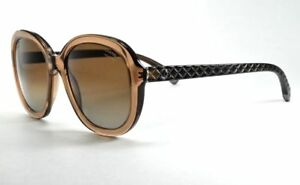 80af162cd82d6 CHANEL 5328 c.1529 S9 Oval Brown Quilted Polarized Sunglasses