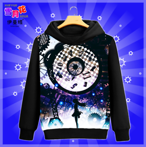 Gift Anime Puella Magi Madoka Magica Hoodie Black Sweatshirt Daily Pullover #P40