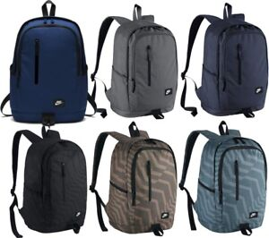 67cdb7e84a3f Men s Nike All Access Soleday Backpack Rucksack Bag Grey 25L Inter ...