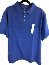 e3634a1f653e St Johns Bay Mens Polo Shirt Size 2xb 2xl Big Blue Cotton Short Sleeves