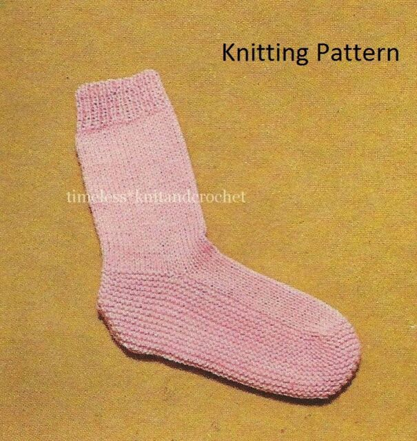 Vintage Knitting Pattern For Warm Cosy Bed Socks In Dk Worked On