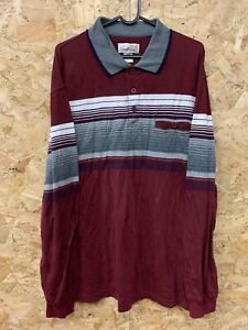 Vintage-Long-Sleeve-Polo-Shirt-Rugby-Top-Striped-Arnold-Palmer-Size-Large-L