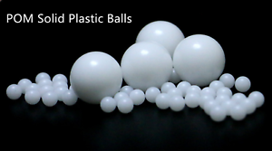 New 100pcs 2.5mm Delrin Polyoxymethylene POM Solid Plastic Balls