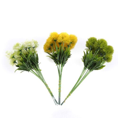 Bouquet Fake Floral Artificial Dandelion Table Decor Wedding Plastic Flower YS