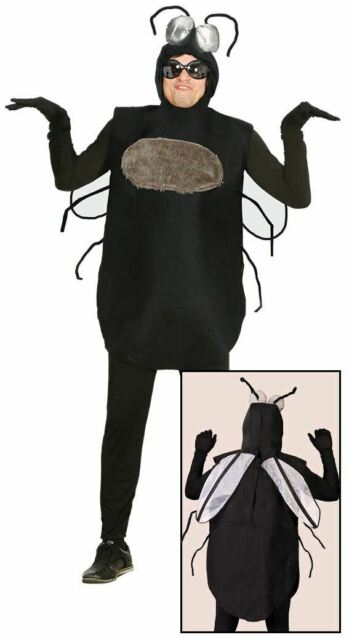 Adult Fly Costume /& Bug Glasses Mens Ladies Insect Fancy Dress Halloween NEW