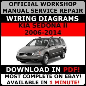 official workshop repair manual for kia sedona ii 2006 2014 wiring rh ebay ie Kia Sportage Kia Sportage