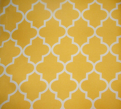 "Outdoor Upholstery Moroccan yellow Waterproof  Canvas fabric 60/"" wide 25 yards"
