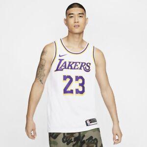 Nike Lebron James Lakers NBA Jersey White Vaporknit (CW3278-104 ...
