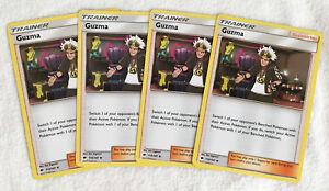 4x-Guzma-115-147-Pokemon-TCG-S-amp-M-quema-Sombras-partidario-Conjunto-de-Juego-de-4