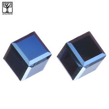 NEW Fashion Men's Women's Icy Crystal 3D Cube Push Back Post Earring Metallic BL