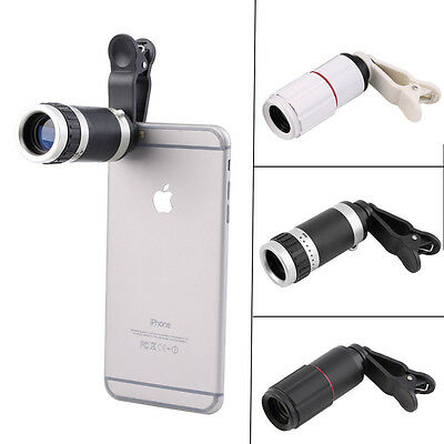 Clip-on 8x Optical Zoom HD Telescope Camera Lens Universal for Mobile Phone