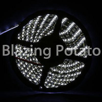 LumenWave 5M 5630 IP65 Waterproof Flexible 300 LED Strip Lights-White PCB-Yellow