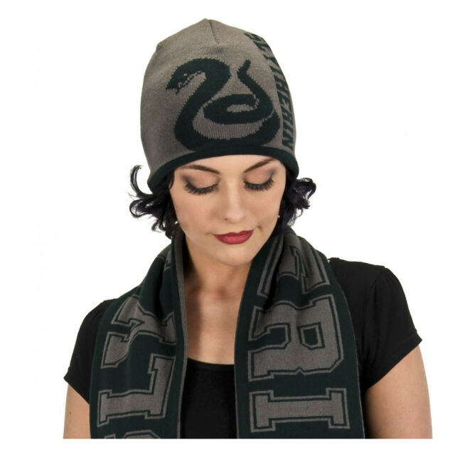 7207ada393d Adult Teen Draco Malfoy Harry Potter Slytherin House Reversible Cosplay  Beanie