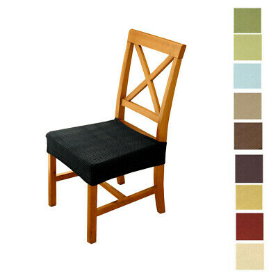 Home Garden Slipcovers 4pcs Waterproof Elastic Chair Slipcover Dining Room Chair Seat Cover Black Stbalia Ac Id
