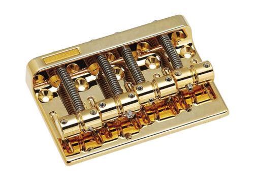 1 of 1 - Gotoh Bass Guitar Bridge • 201B-4 • Gold