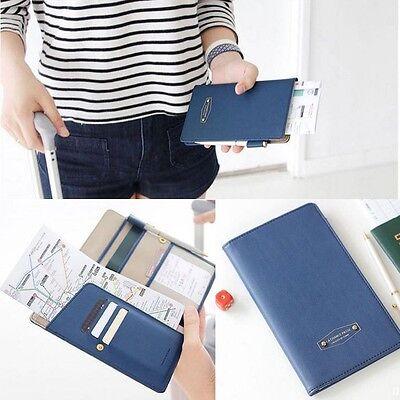 Unisex Journey Travel Passport Holder Wallet Purse ID Card Organizer Case Cover