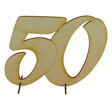 Jubiläumszahl 50 Geschenk 15cm aus Holz, Goldene Hochzeit zum bemalen
