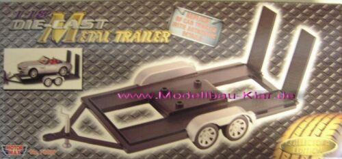 Motormax rimorchio trailer 1:18 Nero