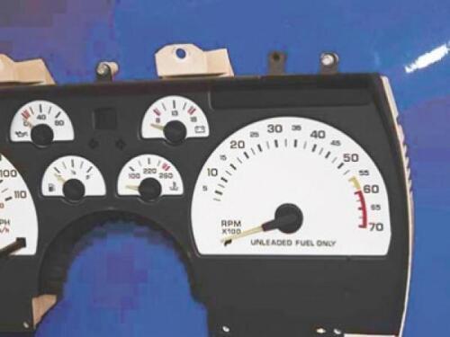 1990-1992 Chevrolet Camaro 110 mph Dash Cluster White Face Gauges 82-92