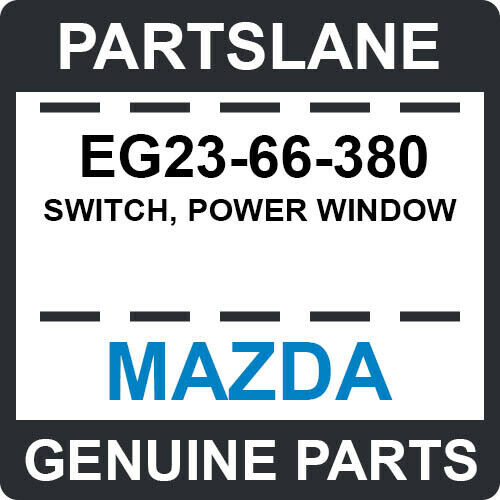 2006-2013 Mazda5 Rear Door Power Window Switch OEM NEW Genuine # C235-66-380