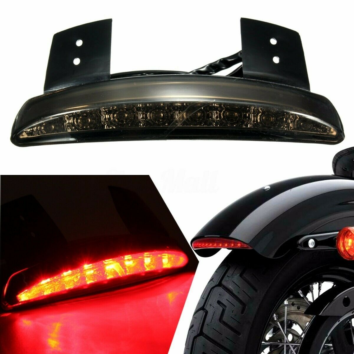 Smoke License Plate LED Tail Light Fit For Harley Softail Iron 48 Nightster