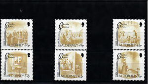 Alderney-2012-MNH-Charles-Dickens-200th-Anniv-Birth-6v-Set-Scenes-Oliver-Twist