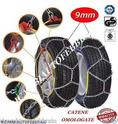 Catene da Neve OMOLOGATE Speed 9mm per Pneumatici GOMME 215//60 R 17 215 60 R 17