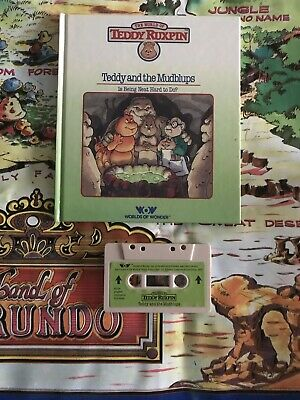 Teddy Ruxpin Teddy and the Mudblups Book and Tape