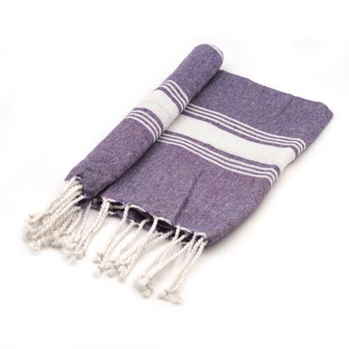 Turkish Small Towel Gym Beach Bath Yoga Hammam Peshtemal Fouta Purple x4