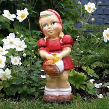 ROTKÄPPCHEN 30 cm MÄDCHEN mit KORB Garten Deko Figur MÄRCHEN Dekoration