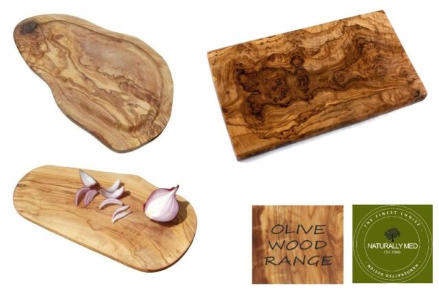 "RECTANGLE OLIVE WOOD CUTTING CHEESE BOARD 12/"" OL033"