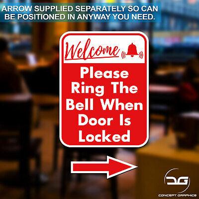 Please Ring The Bell When Door Is Locked Sticker