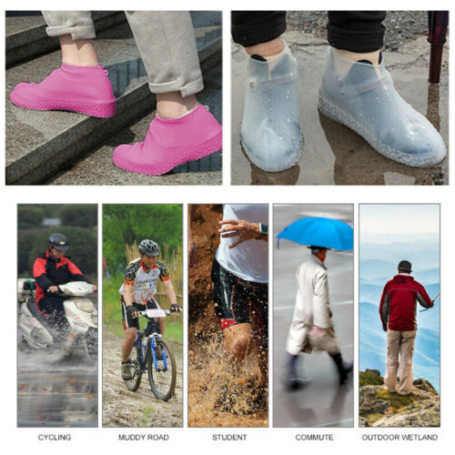 Silicone Overshoes Rain Waterproof Shoe Covers Boot Cover Protector Recyclable E