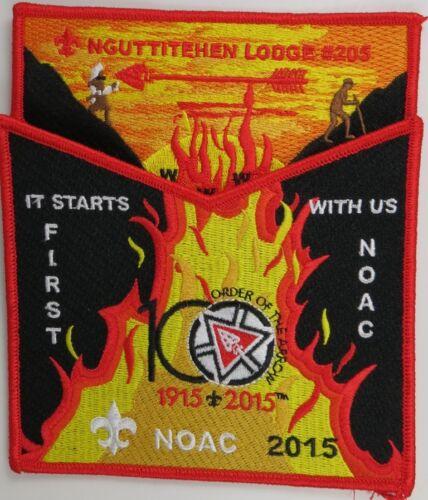 2015 NOAC Centennial OA Nguttitehen Lodge 205 RED BDR 2pc Flap S494