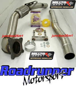 MILLTEK-GOLF-MK5-GTI-2008-LARGEBORE-DE-CAT-DOWNPIPE-EXHAUST-FITS-ONTO-STANDARD