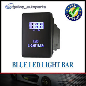 Blue-LED-Light-Bar-Push-Switch-For-Mitsubishi-Triton-Outlander-ZK-Pajero-Sport