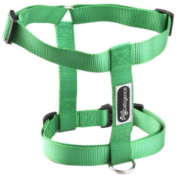 NEW WHOLESALE LOT OF 10 DOG NYLON HARNESSES  SIZE SMALL  COLOR GREEN