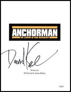 David Koechner Autograph Signed Script Cover - Anchorman (JSA COA)